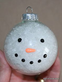 I wish we had seen this earlier. I have everything ready to make it, but no time left before Christmas in my classroom. Maybe next year. snowman ornament