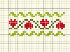 Entre linhas: 2016 Xmas Cross Stitch, Cross Stitch Bookmarks, Cross Stitch Heart, Cross Stitch Borders, Simple Cross Stitch, Cross Stitch Designs, Cross Stitching, Cross Stitch Embroidery, Cross Stitch Patterns