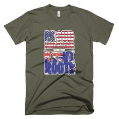 American With Kiwi Roots Mens T-Shirt