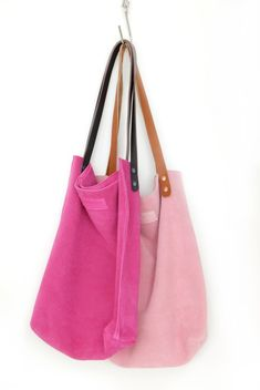 Pale Rose Nappa Leather Tote Bag - Raw Sensual Soft Handbag