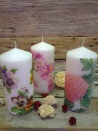 Resultado de imagen de como pegar servilletas en velas