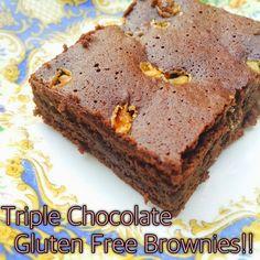 Triple Chocolate Gluten Free Brownies