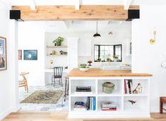 New Wood Tile Transition Kitchen Open Shelves Ideas White Interior Design, Interior Photo, Interior Decorating, Spring Cleaning Organization, Storage Organization, Storage Ideas, Nest Design, Shabby, Shop Storage