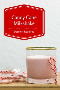 Candy Cane Milkshake is refreshing and delicious. Plus, it's a breeze to whip together. You just need ice cream, candy canes and milk!