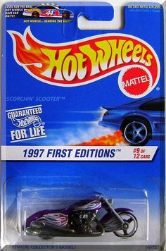 Hot Wheels - Scorchin' Scooter: 1997 First Editions #9/12 Collector #519 (1997) #Fantasticfinds2014..... $11.49