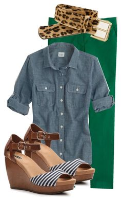 """""""Wearing 6/25/2013"""" by my4boys ❤ liked on Polyvore featuring J.Crew and Dr. Scholl's"""