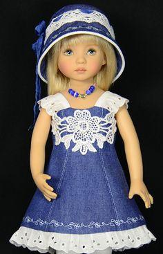 Denim Amp Eyelet for 13 034 Dianna Effner Little Darling Dolls by Melanie | eBay