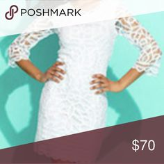 INC ~ Beautiful All White Lace Dress All lace dress.  Brand new with tag.  Gorgeous dress for summer.  3/4 sleeves. Fully lined, lightweight, zipper is on the side never War except to model. INC International Concepts Dresses