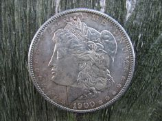 Vintage Silver 1900 Silver Dollar Coin Money E. by TheIDconnection, $50.00 - Organize in #KlaserApp