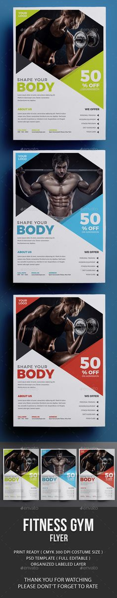 Fitness Flyer Design - Events Flyer Template PSD. Download here: http://graphicriver.net/item/fitness-flyer/16466811?s_rank=460&ref=yinkira