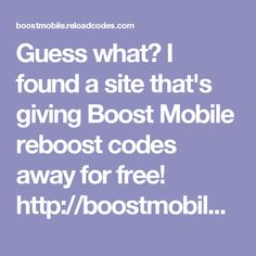 Free boost mobile reload codes free boost mobile reload card codes i found a site thats giving boost mobile reboost codes away for free fandeluxe Images