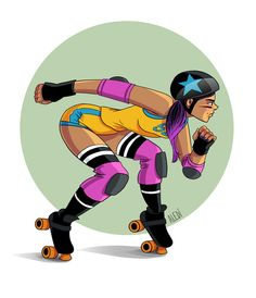 Dessine-moi une roller girl Roller Derby News Roller Derby Skates, Roller Derby Girls, Roller Skating, Character Art, Character Design, Skate Girl, Burton Snowboards, Girl Cartoon, Animales