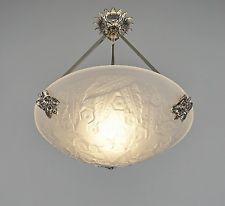 MULLER FRERES : FRENCH 1930 ART DECO CHANDELIER ........ lustre lamp suspension