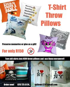 I am making these for who ever wants to remember the good times, please email or message me if you are interested :) 0787256174  tpillows123@gmail.com