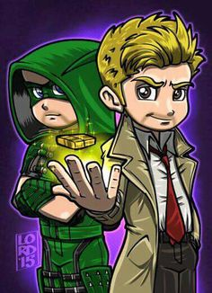Arrow and Constantine    Lord Mesa art