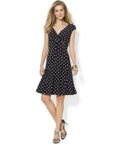I have a similar navy polka dot dress that's one of my favorites (but it's showing wear)
