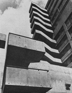 Shops, Offices and Flats, Swiss Cottage, London, UK, 1964 (Douglas Stephen  Partners)