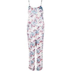 Boohoo Daisy Pretty Floral Satin Vest + Trouser Set | Boohoo ($12) ❤ liked on Polyvore featuring intimates, sleepwear, pajamas, satin sleepwear, satin pajama sets, satin pjs, satin pajamas and satin pyjamas