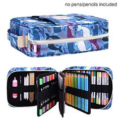 202 Colored Pencils Pencil Case / 136 Color Gel pens Pen Bag/Marker Organizer Universal Artist use Supply School Zippered Large Capacity Slot Super Big Professional Storage qianshan Dolphin -- Check out this great product. (This is an affiliate link) Leather Sketchbook, Pen Storage, White Pen, Gifts For An Artist, Art Case, Pen And Watercolor, Marker Art, Pen Sets, Animal Party