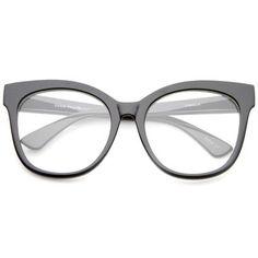 2c6b4cca2af Women s Oversize Retro Clear Lens Glasses A835