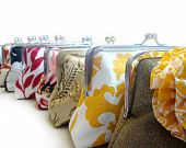 HOLIDAY SPECIAL 10% OFF Bridesmaids Gifts Wedding Party Purses Custom Bags Clutches by Lolis Creations