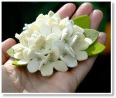Como Fazer UMA flor de feltro Hydrangea
