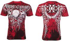 Xtreme Couture AFFLICTION Men T-Shirt BARE BONES Tattoo Biker GYM UFC M-4XL $40 #Affliction #GraphicTee
