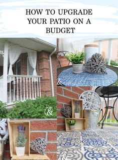 Are you ready to give your patio a fresh, new look? Use our DIY Guide to a Patio Makeover, How To Upgrade Your Patio on a Budget to make it happen! Patio Makeover, To Loose, Department Store, Long Weekend, Morning Coffee, Front Porch, Beautiful Homes, Budgeting, Diy And Crafts