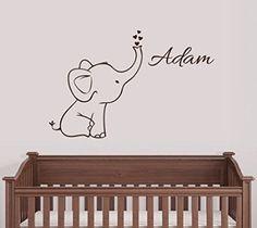 Personalized Elephant Wall Decal Nursery Decor