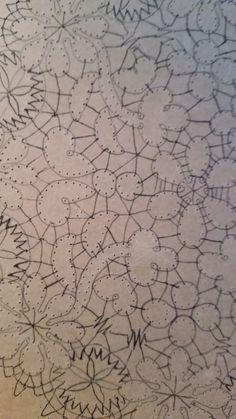 Detaljer old pattern Bobbin Lace, Black Silk, Floral, Design, Picasa, Bobbin Lacemaking, Flowers, Flower
