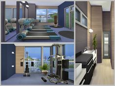 chemy's Kismet Modern Three Floor, Second Floor, Teen Bedroom, Master Bedroom, Modern Family, Home And Family, Sims 4 Modern House, Sims 4 Houses, Open Concept