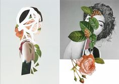 Collages Portraits by Rocio Montoya via @fubiz