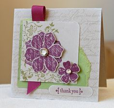 Stampin' Up ideas and supplies from Vicky at Crafting Clare's Paper Moments: Vintage Vogue thank you