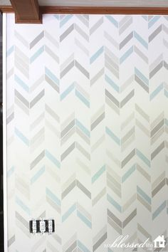 How To Stencil A Wall. I LOVE the colors and this pattern!