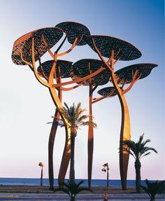 La pineda by Mariscal, so beautiful and elegant, just gorgeous. Urban Landscape, Landscape Art, Landscape Architecture, Landscape Design, Landscape Photography, Urban Furniture, Street Furniture, Landscape Structure, Pergola