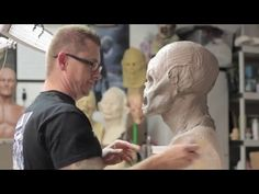 How to sculpt a Monster Mask - Monster Asylum WED clay demo Jonathan Fuller - YouTube