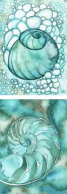 Tattoo ideas beach sea water colors ideas for 2019 Alcohol Ink Crafts, Alcohol Ink Painting, Alcohol Ink Art, Seashell Painting, Silk Painting, Mother Art, Bleu Turquoise, Geometric Art, Sea Shells