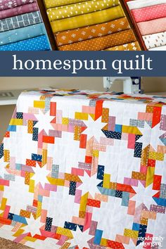 The ultimate scrap and fat quarter friendly pattern! Bust your stash or use your favorite bundle to create this lovely star quilt! Two layouts are included. Modern Quilt Blocks, Star Quilt Blocks, Modern Quilt Patterns, Star Quilts, Quilt Patterns Free, Easy Quilts, Jelly Roll Quilt Patterns, Fat Quarter Quilt, Jellyroll Quilts