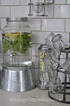 Beautiful Summer Beverage Station by Cottage in the Oaks!