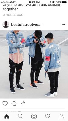 Royal Fashionsit is the best Men's Fashion Guide. Here you will find the latest trends on men's style. Get inspired with these outfits and leave your comment below. Urban Fashion, Boy Fashion, Mens Fashion, Fashion Outfits, Fashion Guide, Latest Fashion, Fashion Trends, Mode Streetwear, Streetwear Fashion