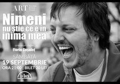"""""""Nimeni nu ştie ce e în inima mea"""" – one-man show Florin Cosulet @La Baza"""