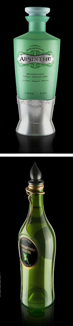 O estúdio de design Product Ventures fez esse estudo para o design de uma nova garrafa de absinto para um de seus clientes. Eu fiquei em dúvida de qual é a mais bonita. ...