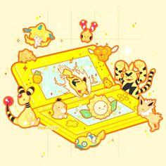Cute Pokemon Wallpaper, Kawaii Wallpaper, Cute Characters, Video Game Characters, Japanese Art Styles, Nostalgia Art, Cute Cartoon Drawings, Pokemon Tattoo, Pokemon Funny