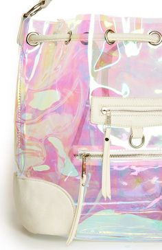 Iridescent Bucket Bag/Backpack (detail) - DailyLook.com