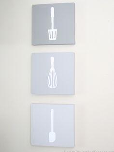 kitchen utensil wall art 15 Inventive Wall Art DIYs kitchen bath