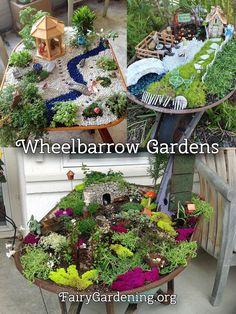 Wheelbarrow Fairy Gardens