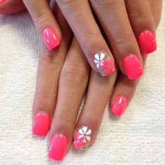 Nail art Christmas - the festive spirit on the nails. Over 70 creative ideas and tutorials - My Nails Spring Nail Art, Spring Nails, Summer Nails, Summer Vacation Nails, Summer Holiday Nails, Cruise Nails, Cute Nail Colors, Toe Nail Designs, Fingernail Designs