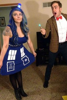 Looking for some Halloween couple costume ideas 2019 has in store? These Halloween couple costume ideas are great for any party, and are easy to DIY! Clever Couples Halloween Costumes, Unique Couple Halloween Costumes, Best Couples Costumes, Halloween Cosplay, Costumes For Women, Couple Costumes, Halloween Ideas, Group Halloween, Homemade Halloween