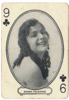 Vintage Playing Cards: Silent Screen Stars!