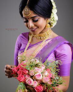 "MOMENTS BY KAJAN op Instagram: ""Model: @rachnaprem Hair and makeup: @thushi_mua & @thiva_mua Saree: @royaltouchonline Jewellery @vrddhiuk Photography…"" Tamil Wedding, Saree Wedding, Hairstyle Braid, Braided Hairstyles, Tamil Brides, South Indian Bride, Half Saree, Bridal Makeup, Hair Makeup"